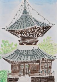 清凉寺・多宝塔